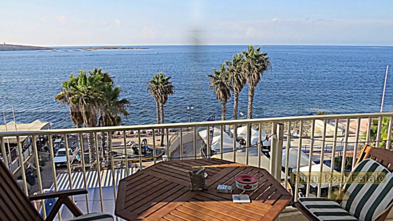 Malta Property For 3 Bedroom Seafront Apartment Bugibba