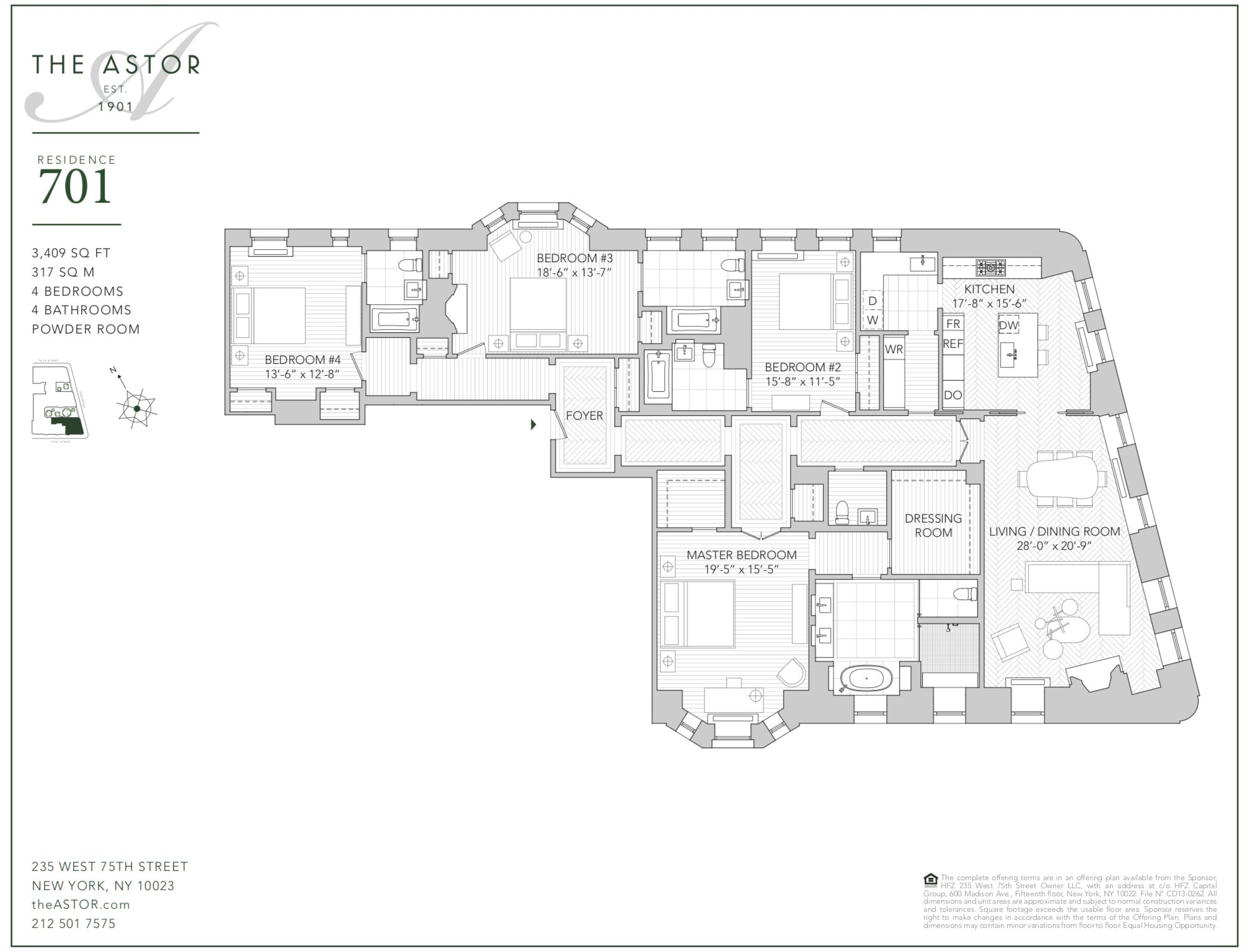 The Astor Upper West Side Condos Residence 701 Upper West Side Apartment Apartment Floor Plans City Living Apartment