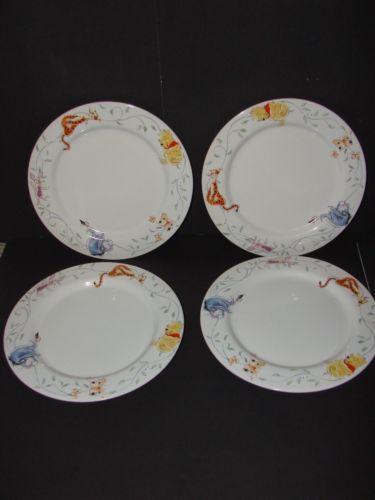 Winnie The Pooh Tigger Eeyore Piglet Disney Direct Dinnerware Plates Set of 4 | eBay & Winnie The Pooh Tigger Eeyore Piglet Disney Direct Dinnerware Plates ...