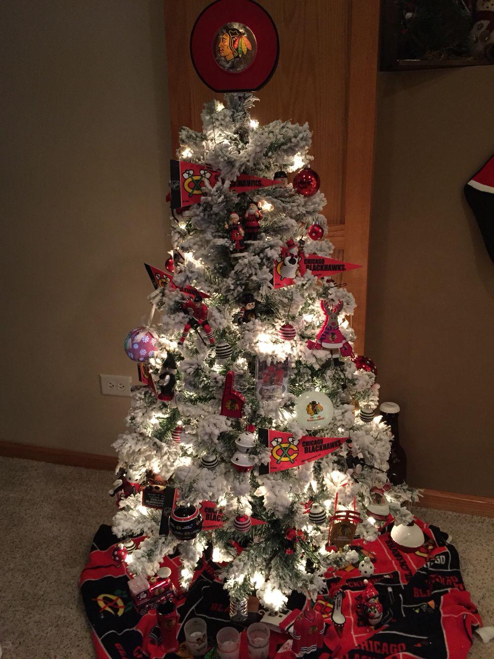 Blackhawks Christmas Tree. #blackhawks