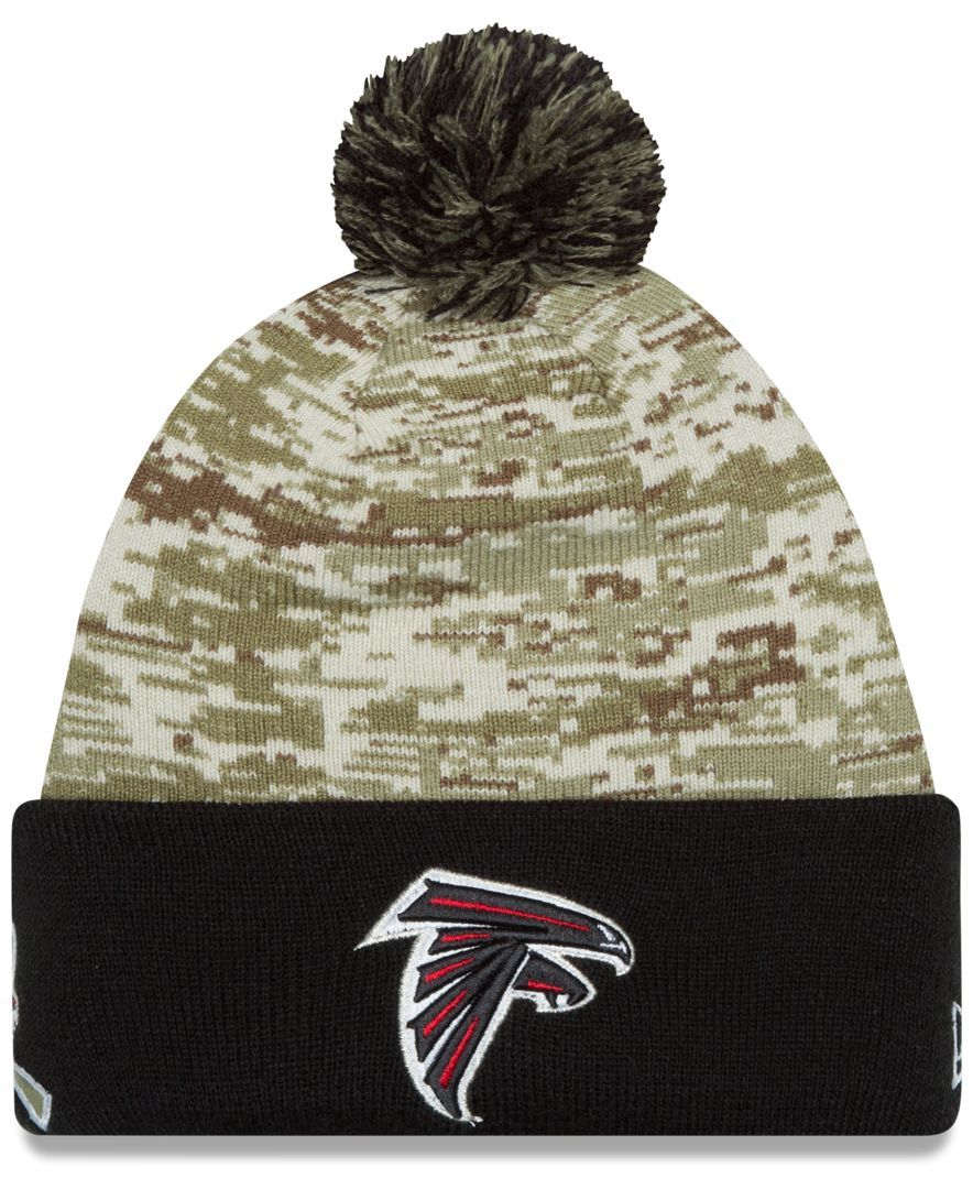 f00acf52 New Era Atlanta Falcons Salute to Service Knit Hat | Hats | Knitted ...