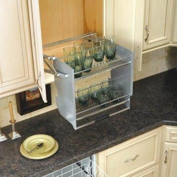 Pull Down Shelving Brings Items Into