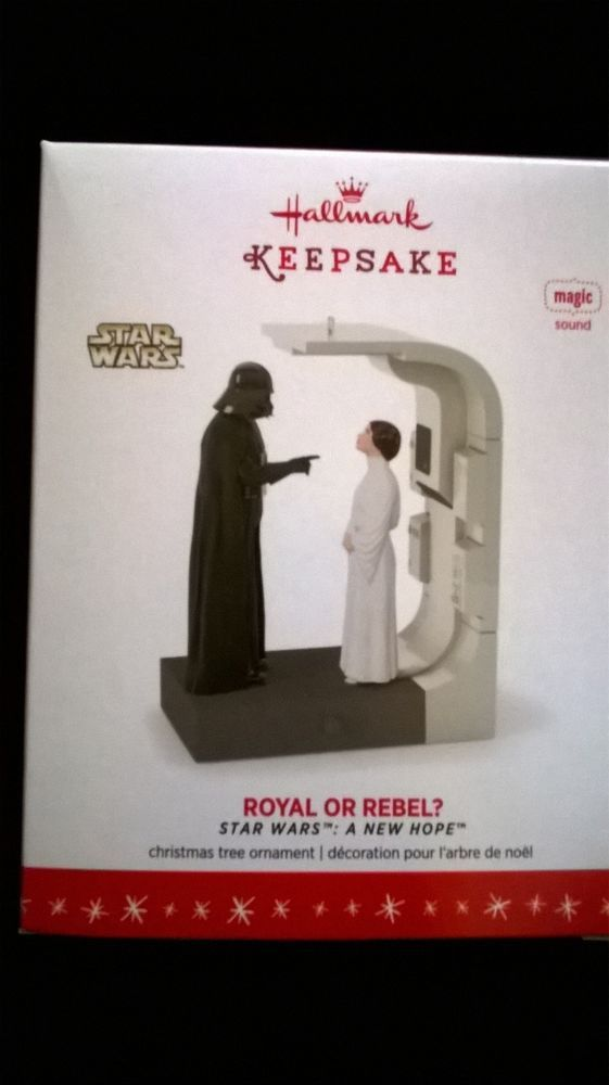 "hallmark 2016 ""Royal or Rebel"" Star Wars Ornament NIB"