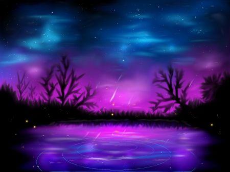 Blue Purple Night Desktop Nexus Wallpapers Really Cool Wallpapers Nature Backgrounds Girl Wallpaper