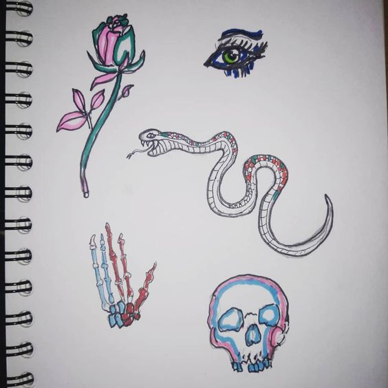 Colors  #art #ink #watercolor #blackwork #lineart #linework #paint #painting #sketch #sketchbook #medium #tattoo #traditionalart