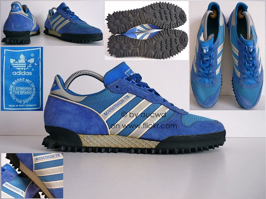 70`S / 80`S VINTAGE ADIDAS MARATHON TRAINING SHOES / TRAINERS .
