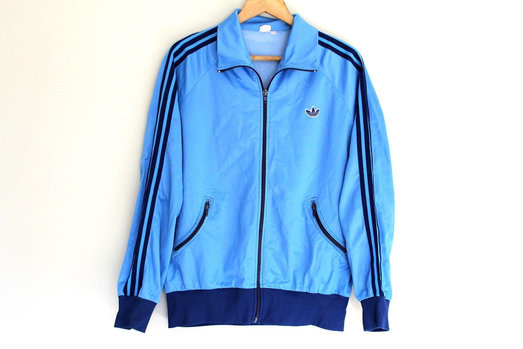 70's ADIDAS Jacket, Zip Up Adidas Sweatshirt, Old School