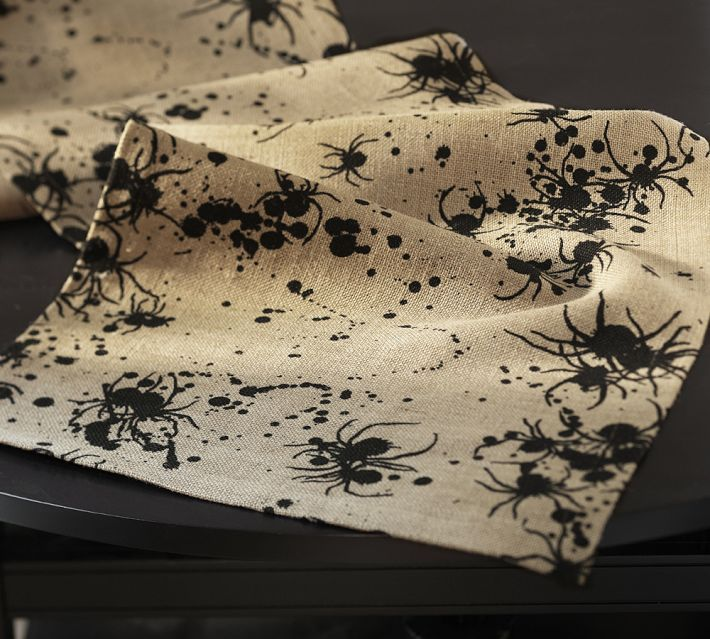 Pottery Barn Kids Invisible Ink: Pottery Barn. Spider/Inkblot Table Runner.