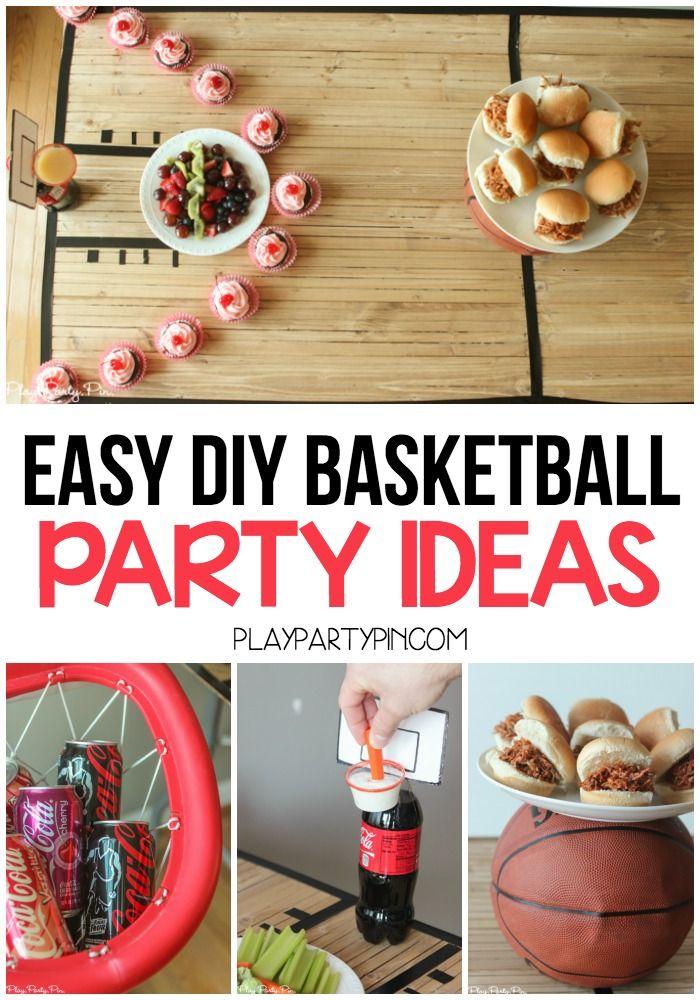 Diy Basketball Party Ideas Diy Basketball Party Basketball Party Basketball Party Favors