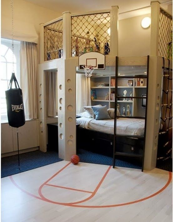 Oh Yeah Love This Basketball Room Idea For Boys! My Kids Will Def Have This  Room!