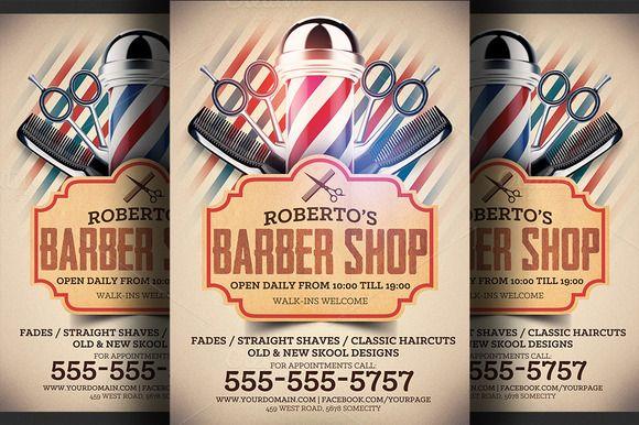 Barber Shop Flyer Template | Barber shop and Flyer template