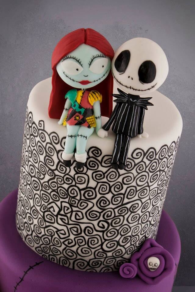 Beautiful Nightmare Before Christmas cake Cakes!! Pinterest