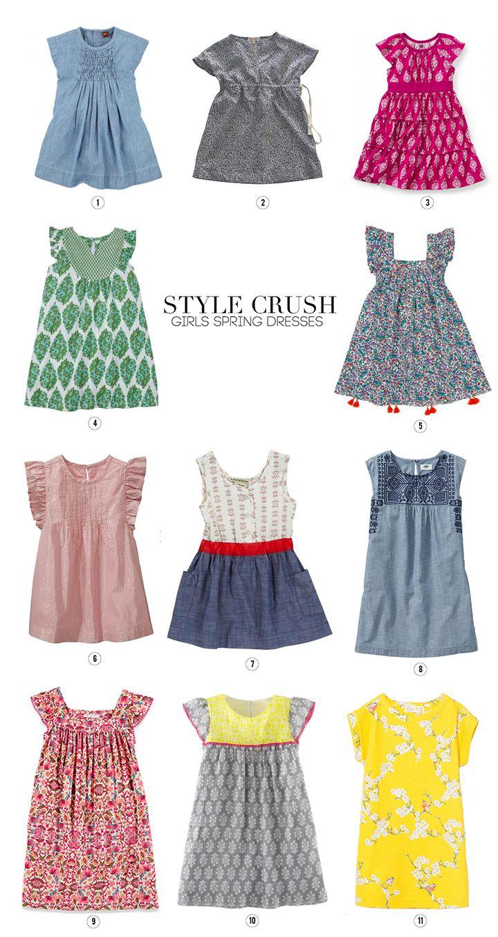 Style Crush – Girls Spring Dresses  Cotton frocks for kids, Kids