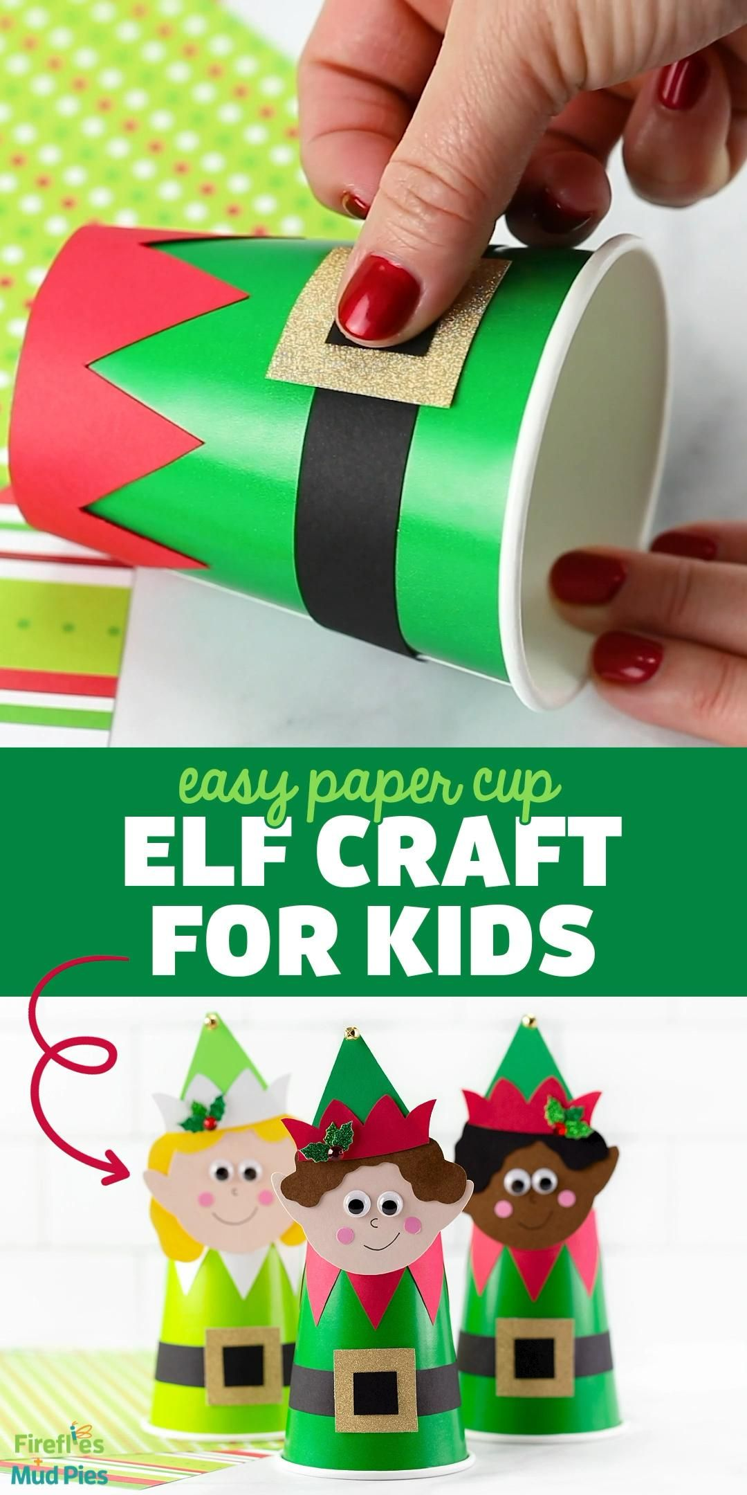 Easy Paper Cup Elf Craft for Kids -   19 diy christmas decorations for kids paper ideas