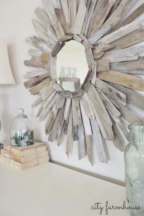 Beach house decorating diy for your beach house driftwood mirror http nauticalcottageblog - Diy projects with seashells personalize your home ...