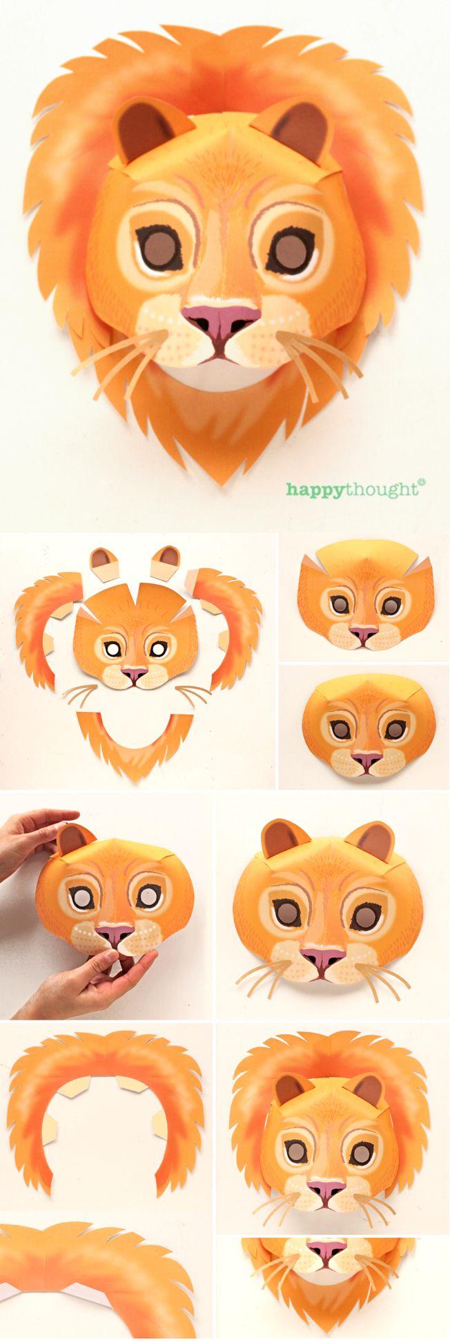 10 printable wild animal masks origa craft pinterest animal
