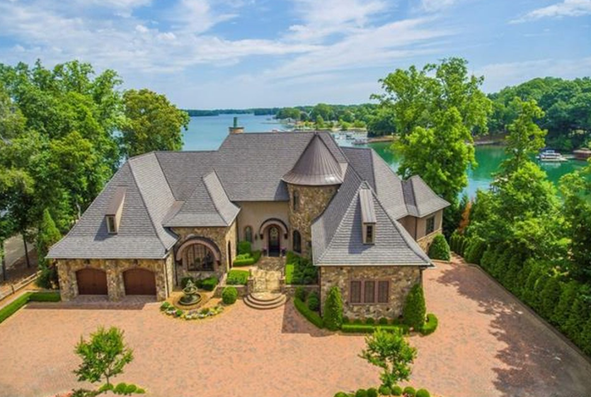 10 000 Square Foot Lakefront Mansion In Cornelius Nc Estate Homes Mansions House And Home Magazine