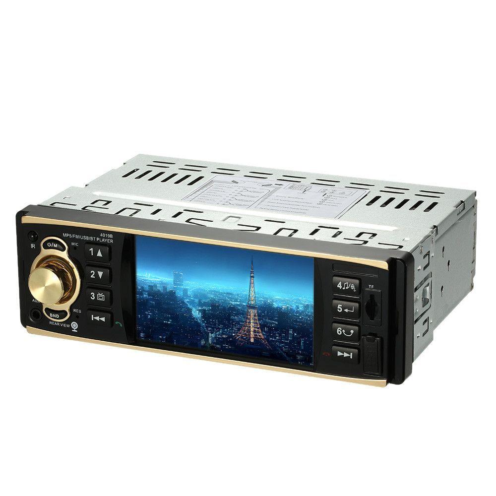 4.1inch TFT HD 1080P Digital Screen Car Radio MP5 Player Bluetooth USB/TF FM Aux Input Universal Steering Wheel Remote Control