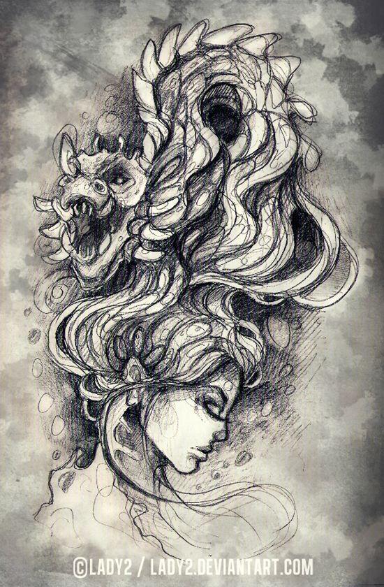 dragon_queen_sketch#04 by Lady2 on deviantART