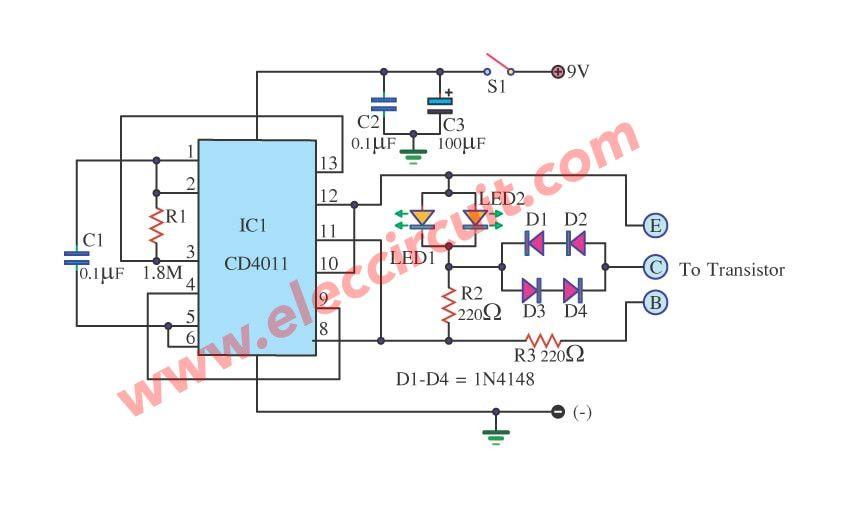 test transistor in circuit by ic 4011 circuit meters detectors rh pinterest com