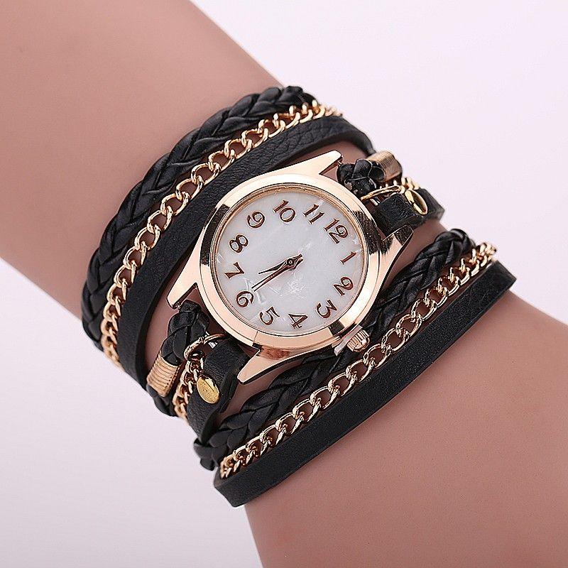 Aliexpress Com Buy Leather Strap Quartz Watches Gold Fashion Leather Bracelet Women Dress Watches Reloj Mujer Lederarmband Frauen Armband Leder Frauen Uhren
