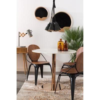 Table à manger ronde ø90 Marble King de Zuiver - Couleur - Cuivre