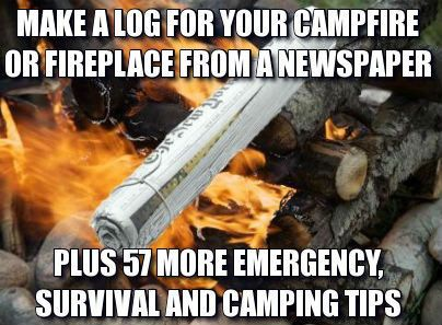 Photo of Make a Log from a Newspaper + 57 More Hunting, Fishing and Camping Tips from the…