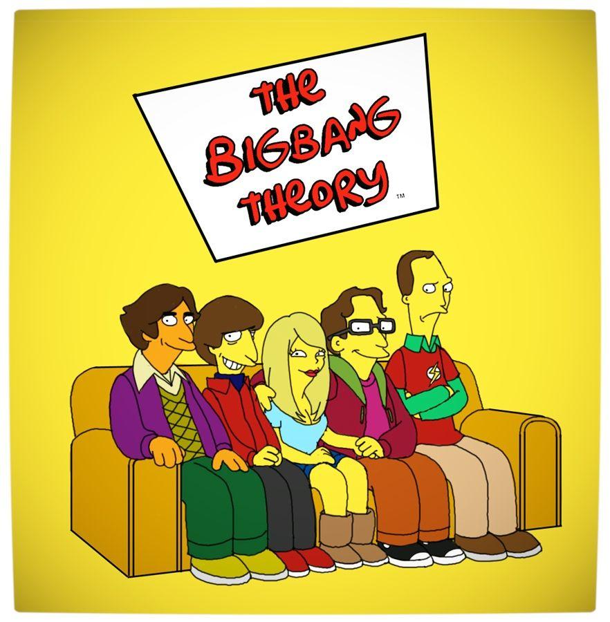 Vamers Humour - The Big Bang Theory - The Simpsons Mash-Up | Vamers ...
