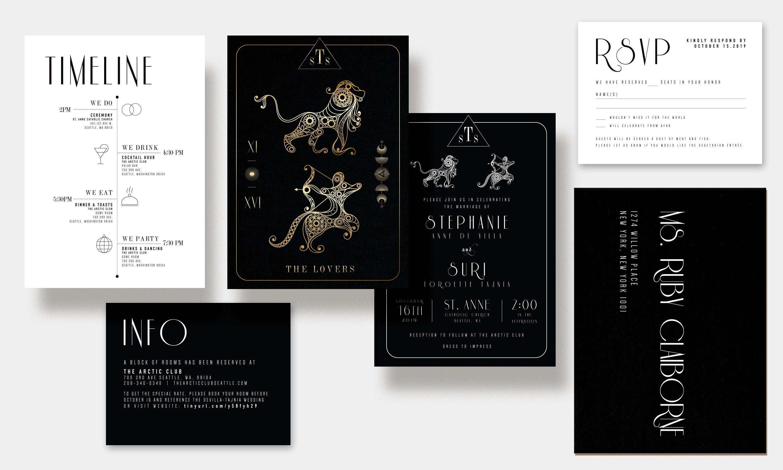 The Wedding Graphic Suite in 2020 | Wedding invitations, Invitations, Unique  tarot cards