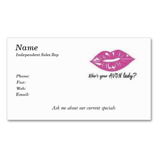 Whos Your Avon Lady Business Card Avon And Avon Sales - Avon business card template