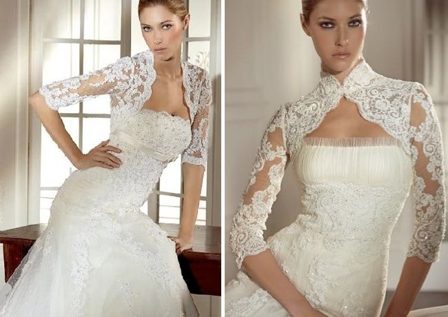 Lace bridal jackets for your strapless dress. | Wedding Ideas ...