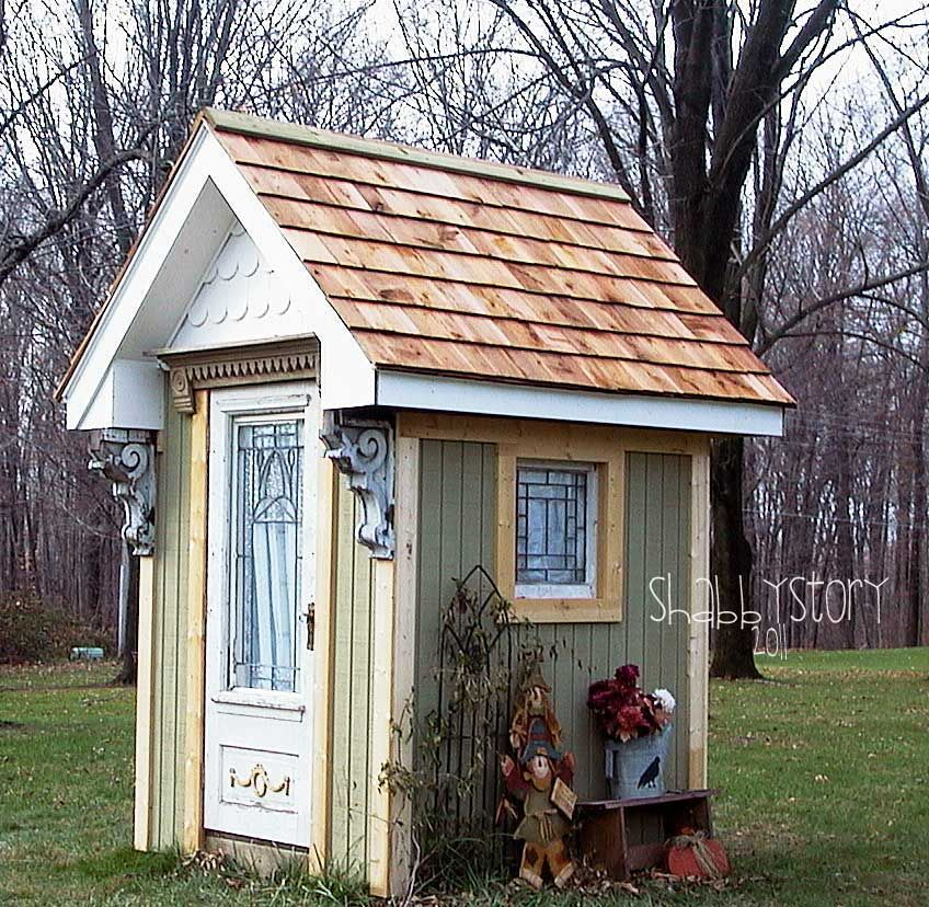 shabby chic garden shed made from a salvaged fort salvaged architectural materials shabby story shabby garden shed - Garden Sheds Vic