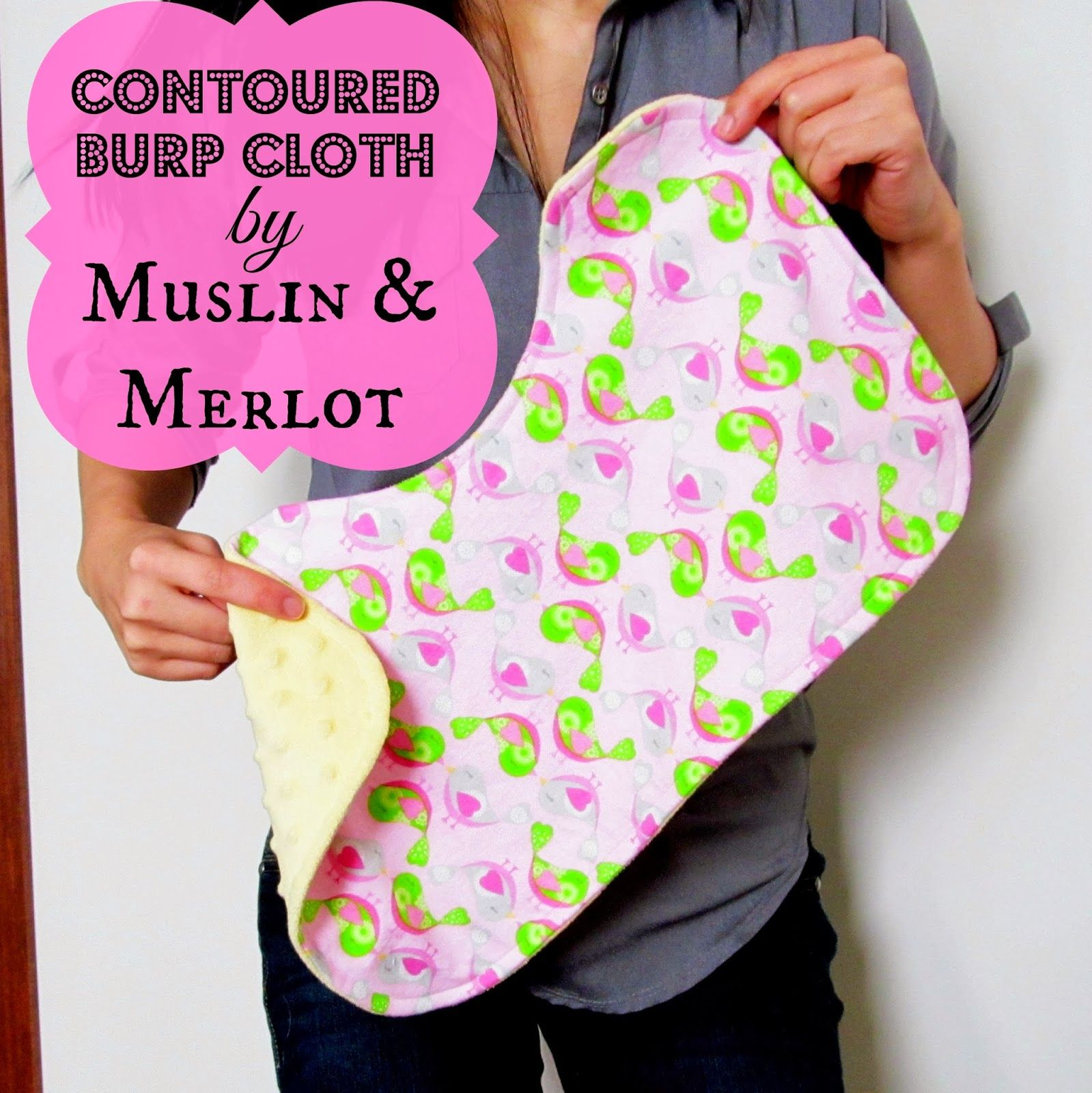 Oh Baby! Part Two: Contoured Burp Cloth Template - Free Template ...