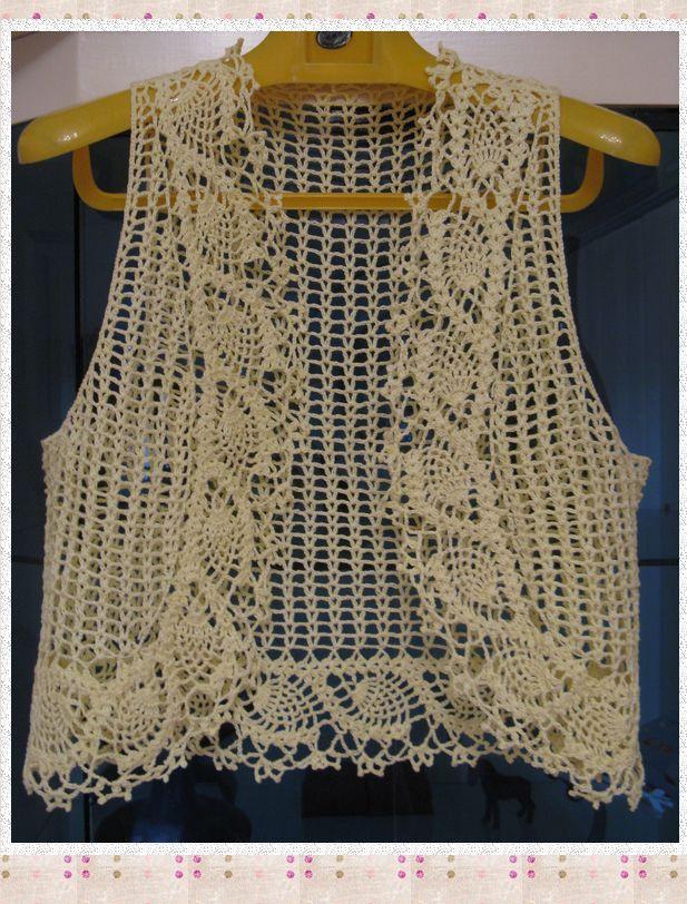 bolero. | Crochet Vests Short | Pinterest | Jacken, Häkeln und ...