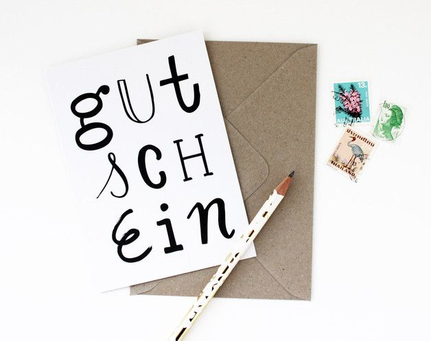 """Klappkarte """"Gutschein"""" von mimifaktur – ein Designerstück von mimifaktur bei Da…"""
