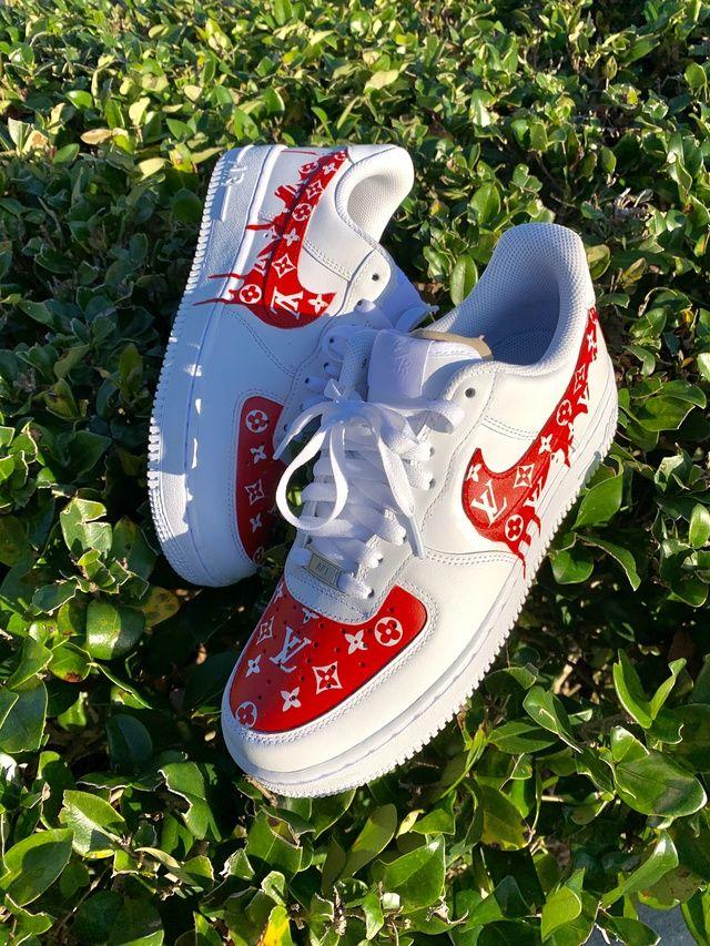 LV Drip AF1 in 2020 Hype shoes, Custom vans shoes, Best