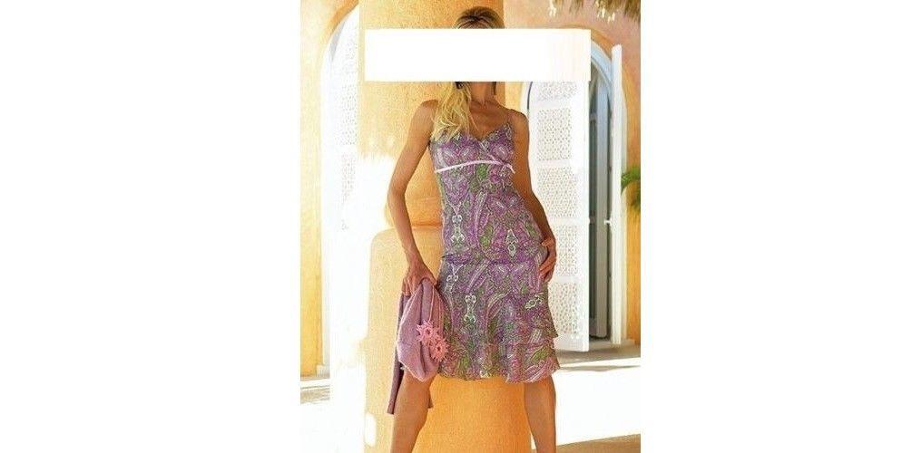 Damen Träger Kleid Empire Abendkleid Georgette ...