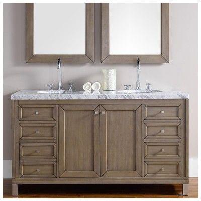 James Martin Chicago 60 Double Bathroom Vanity 305 V60d