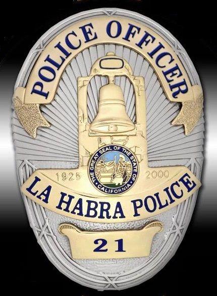 La Habra Pd Calif Police Police Badge Police Officer Badge
