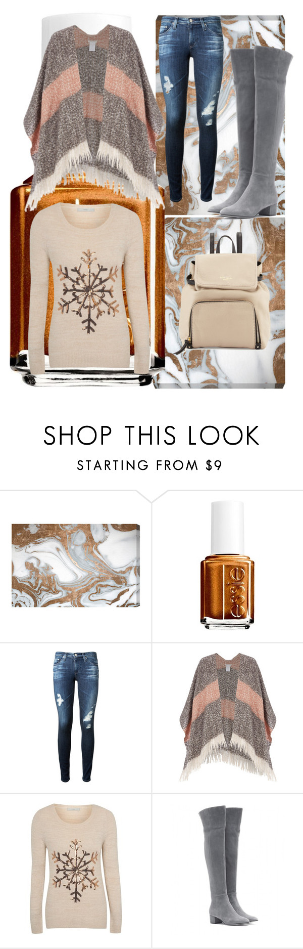 """""""Falling fast"""" by isabellarowlee on Polyvore featuring Oliver Gal Artist Co., Essie, AG Adriano Goldschmied, George, Gianvito Rossi and Kate Spade"""