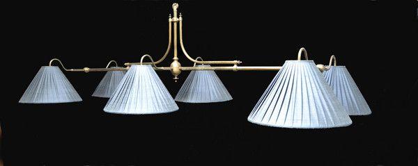 OnlineGalleries.com   A New Handmade Brass Framed Billiard  Snooker Pool  Table Light