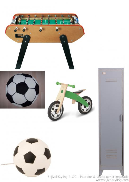 Interieur | Kinderkamer in stoere voetbal stijl • Stijlvol Styling - WoonblogStijlvol Styling – Woonblog