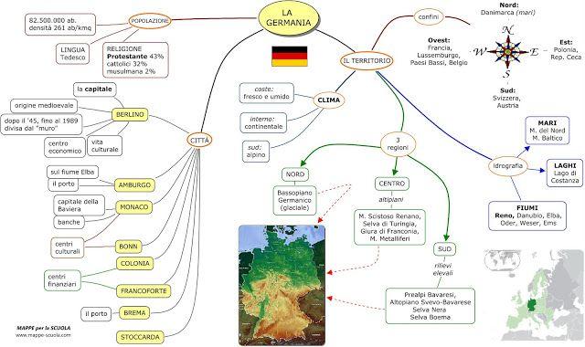 Mappe Germania Mappe Geografia Matematica Scuola Media