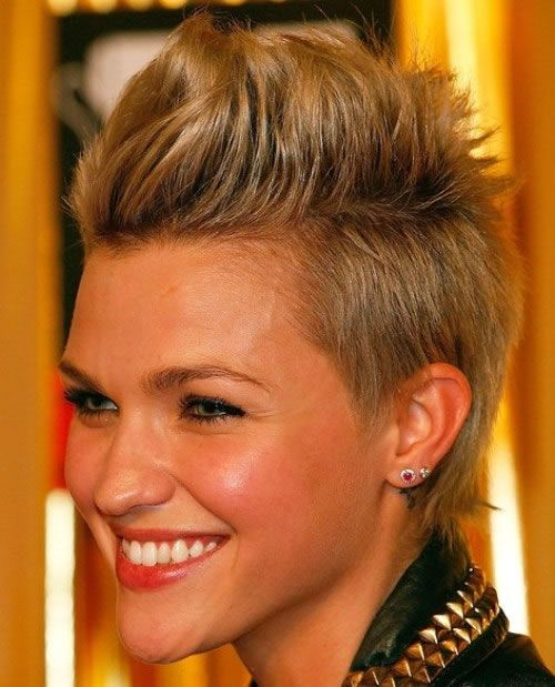 FAUX HAWK SHORT HAIRSTYLE FOR WOMEN  Consider this trendy hairstyle to wear on Friday or weekends coz it's fun, lovely chic and can rock your evening on a weekend......