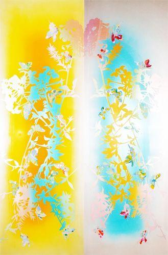 """Papilionoidea 1"" — acrylic behind acrylic glass, 48 x 32 inches"