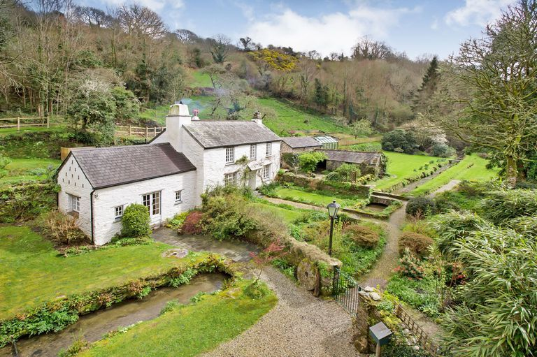This Stunning Cornish Cottage For Sale Comes With A Converted Watermill Cottage Exterior Cornish Cottage English Country Cottages
