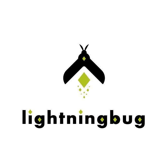 lightningbug or firefly insect logo design by blake a galloway creative director at mobile mutaitons, cincinnnati ohio