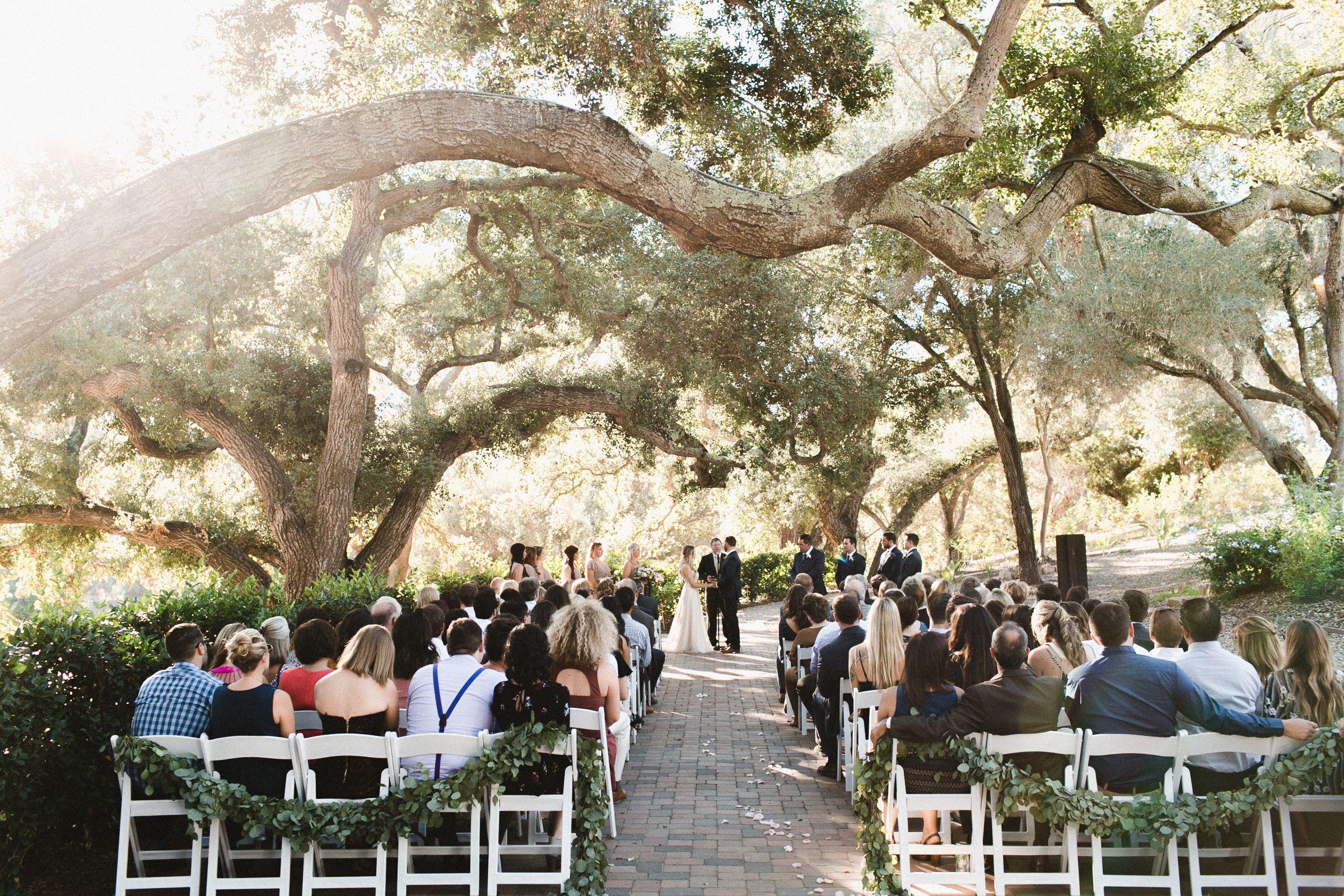Oak Trees Ceremony Lauren Michael San Diego Wedding Venue Mt Woodson Ca San Diego Wedding Venues Outdoor Wedding Venues San Diego Outdoor Wedding Venue