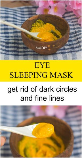 TURMERIC SLEEPING EYE MASK - LIGHTEN DARK CIRCLES | Dark ...