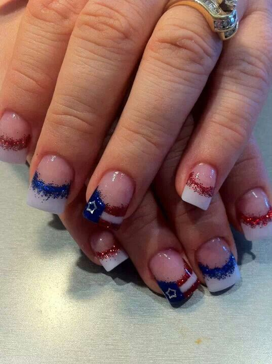 Fourth of July nails!  CREDIT: Beauty Is Payne on Facebook
